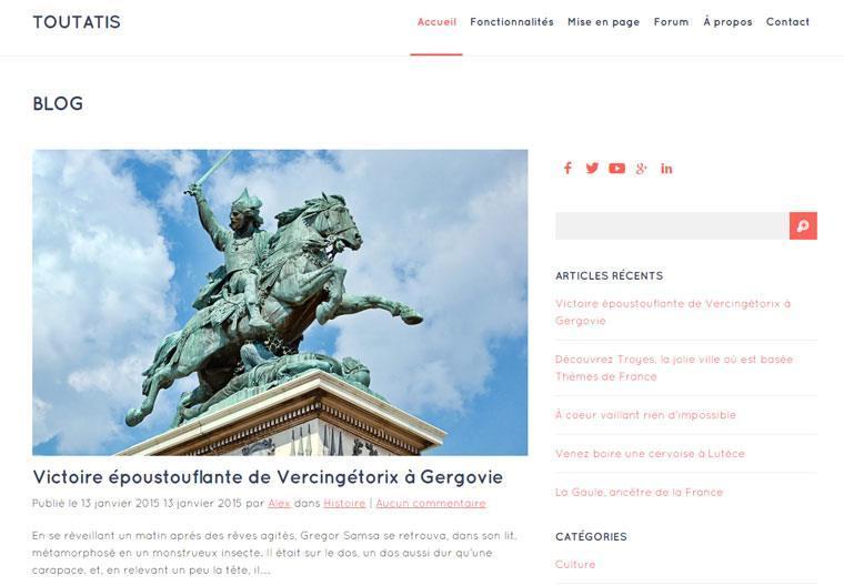 Toutatis, thème gratuit par Themesdefrance.fr