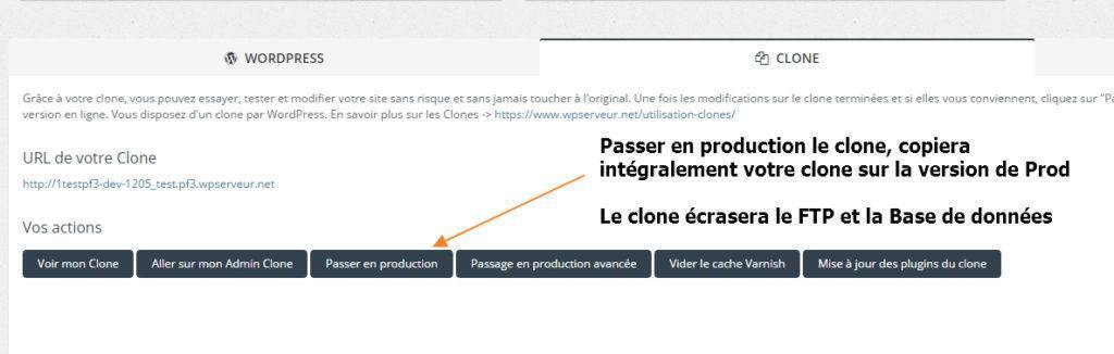 passer en production