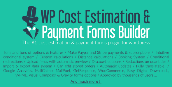 WP Cost Estimation & Payment Forms